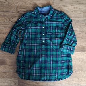 NWOT Tommy Hilfiger Green Plaid Shirt